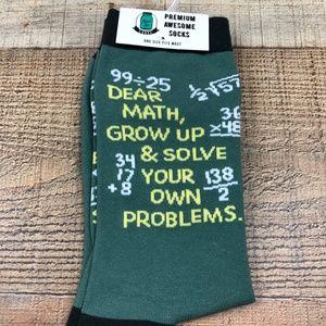Funny Socks Dear Math, Grow Up
